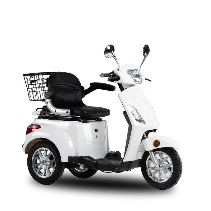 pojazd inwalidzki skos biały skuter elektryczny