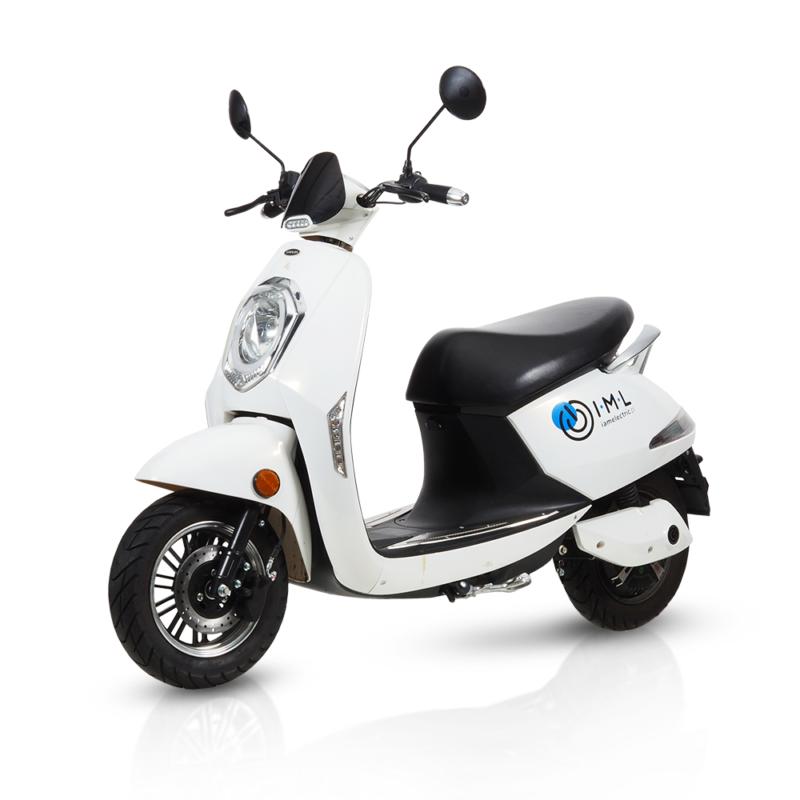 Mały skuter elektryczny dla kobiet iamelectric biały