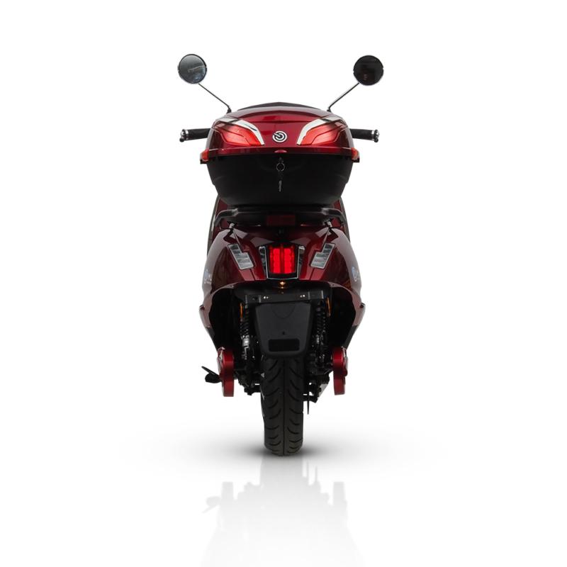Motocykl elektryczny Roma iamelectric czerwony
