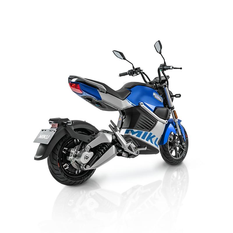 Motocykl elektryczny Miku Super Sunra niebieski