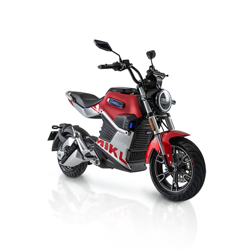 Motocykl elektryczny Miku Super Sunra czerwony
