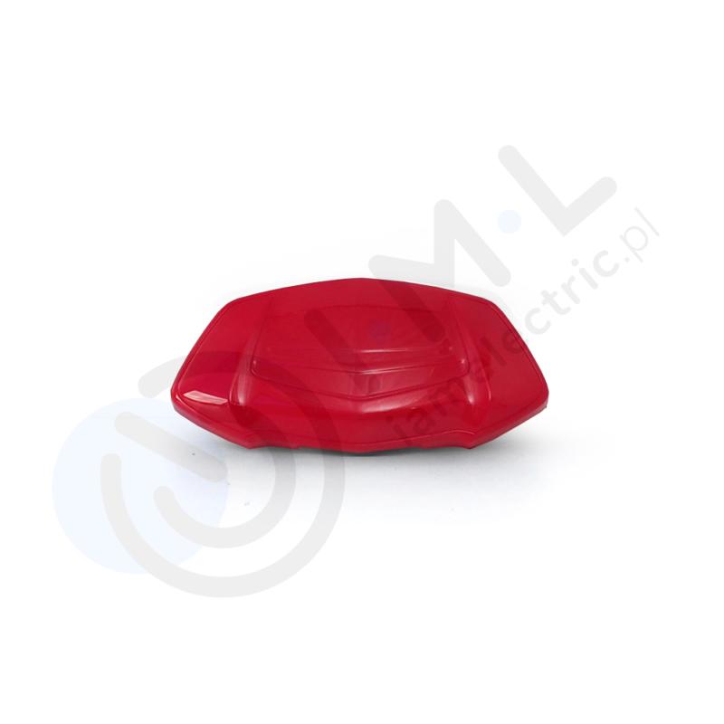 czerwony element oparcia tylnego do skutera elektrycznego hawk